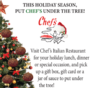 Chefs holiday ad for WNY Hockey magazine
